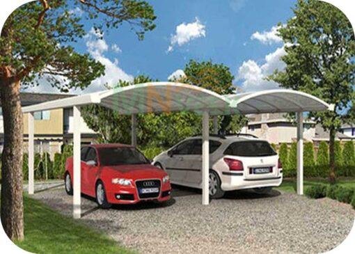 Garaje de Aluminio Doble Carpot1 MNVEEK