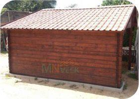 Porche de Madera Besalu1 Vista Lateral Mnveek