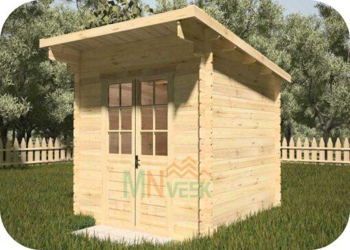 Caseta de Jardín CLARA1 3000mm x 3000mm 28mm Grosor de la Madera Vista Lateral MNVEEK