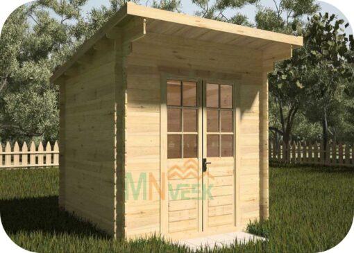 Caseta de Jardín CLARA1 3000mm x 3000mm 28mm Grosor de la Madera Vista General MNVEEK