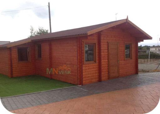 Casa de Madera Corfu1 6500mm x 7760mm 70mm Grosor de la Madera MNVEEK