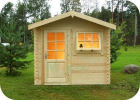 Caseta de jardín Tilos de 5,0m² construidos y de 3,9m² de superficie útil, de 28 mm de grosor de la madera