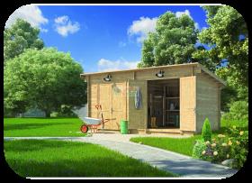 Caseta de jardín Almacén3 5,6m x 3,1m 28mm Grosor de la Madera MNVEEK