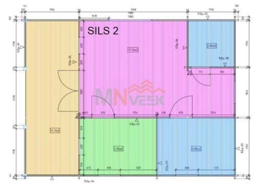 Bungalow de Madera Sils2 45mm Grosor de la Madera MNVEEK