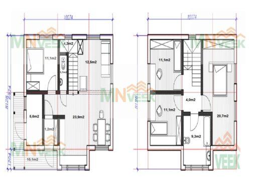 Casa_entramado_ligero_de_madera_modelo_Berga_158m2_Vista_plano_mnveek