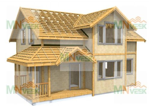 Casa_entramado_ligero_de_madera_modelo_Berga_158m2_Vista_General_mnveek