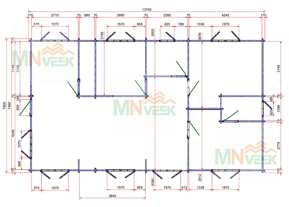 Casa de Madera Alicante 13740mm x 7800mm 70mm_plano_MNVEEK